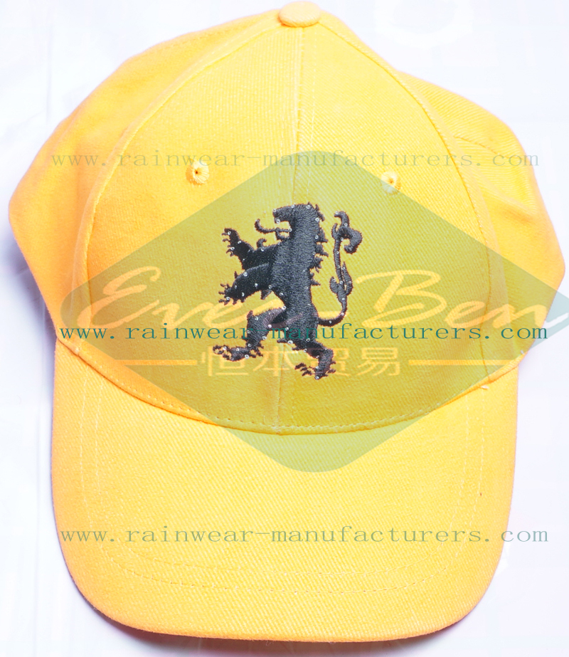 Yellow personalized caps wholesaler