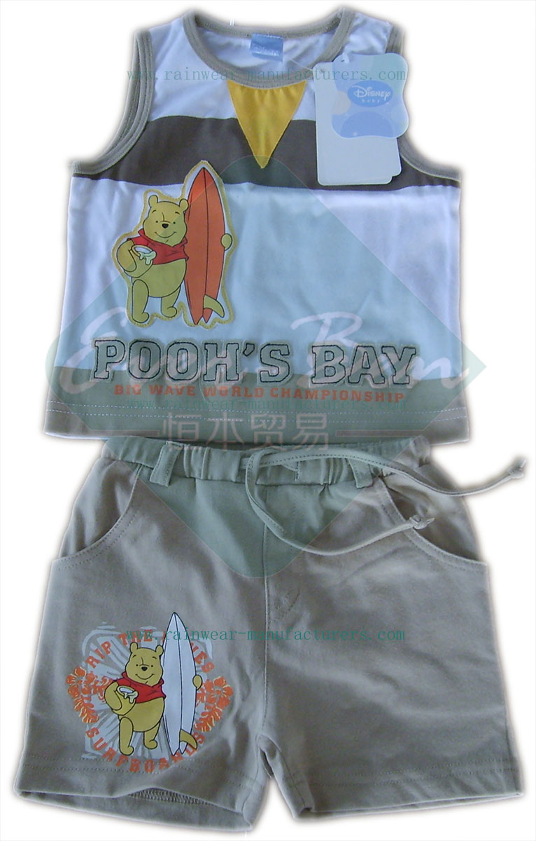 007 Childrens vest and shorts
