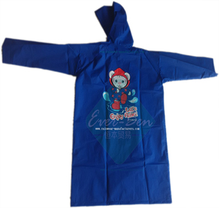 Blue EVA lightweight raincoat for children