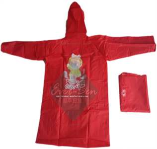 EVA Red girls rain jackets