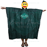 Green PEVA poncho cape supplier