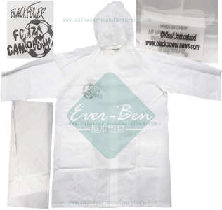 White PEVA kids raincoats-cheap rain jackets