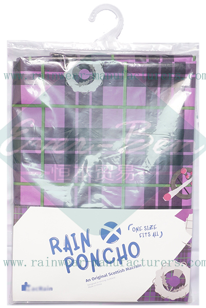 All over printing waterproof capes and ponchos packing bag