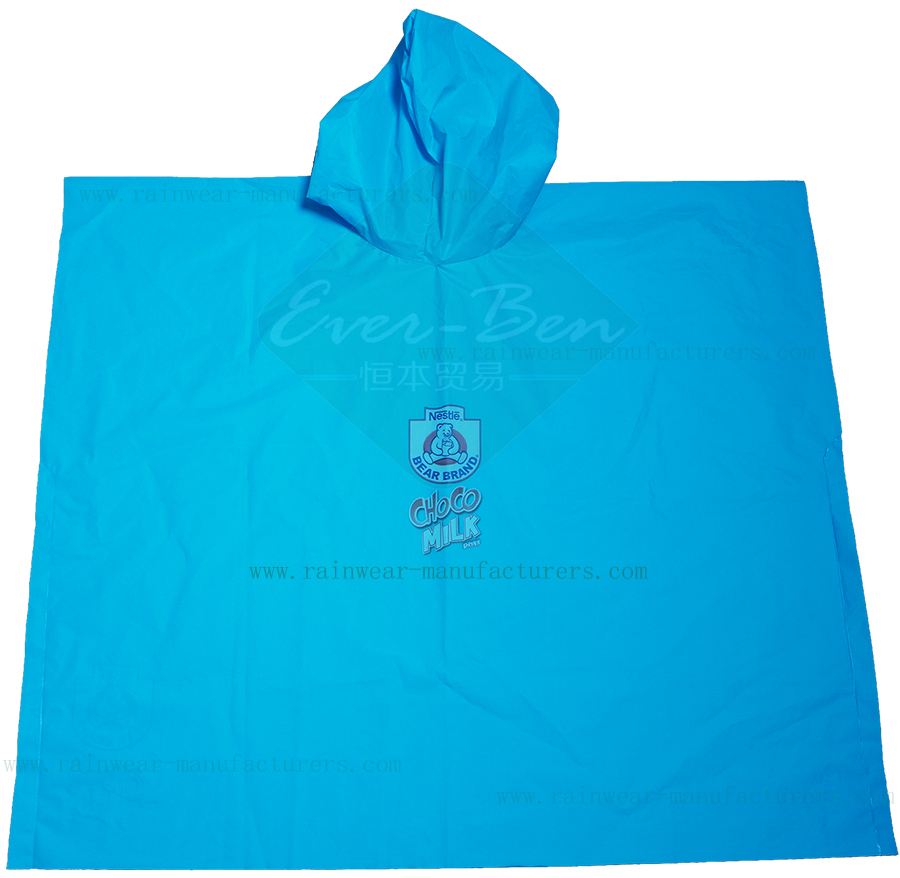 EVA disposable plastic ponchos supplier