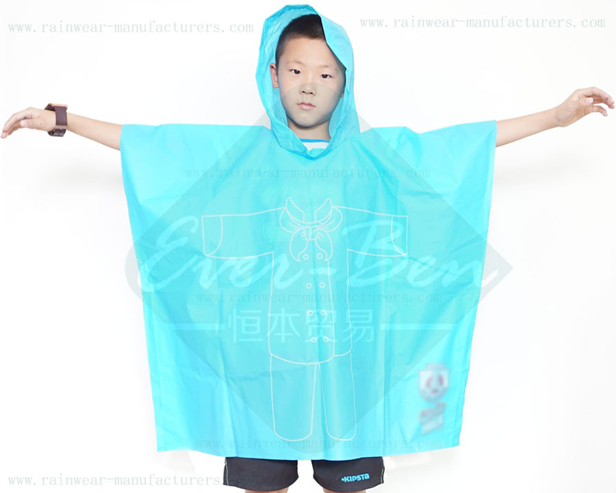 Kids Raincape EVA Rain Ponchos for Children-Child Rain Poncho