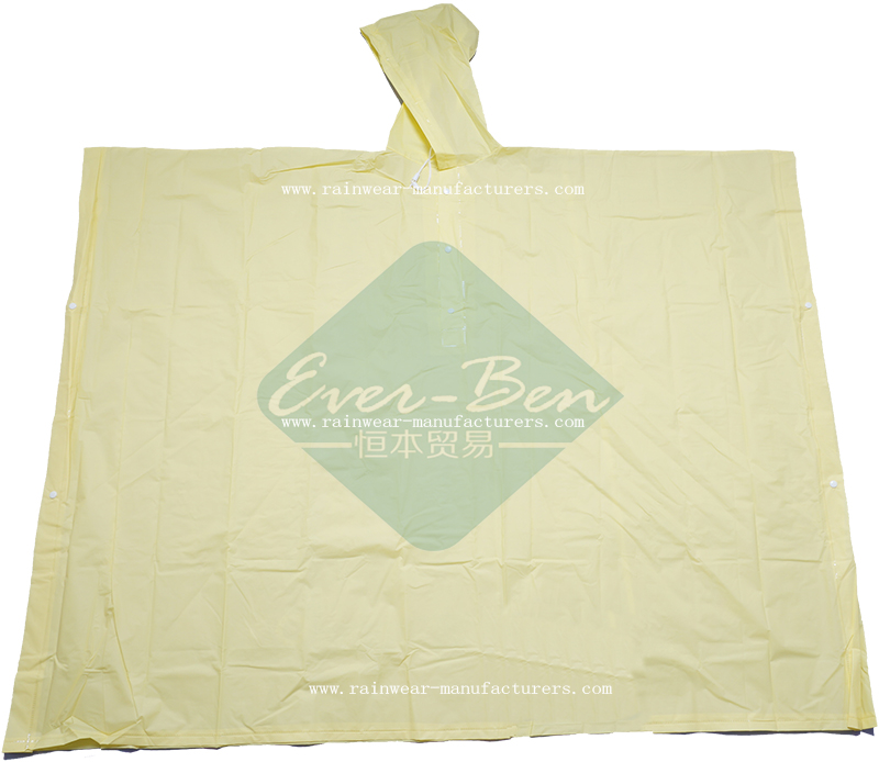 Yellow EVA lightweight waterproof poncho supplier