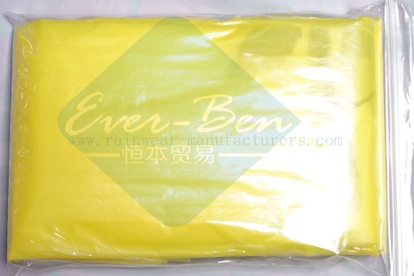 Disposable yellow raincoat pouch
