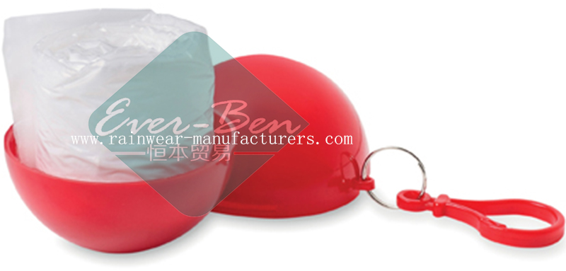 Red rain poncho balls bulk supplier