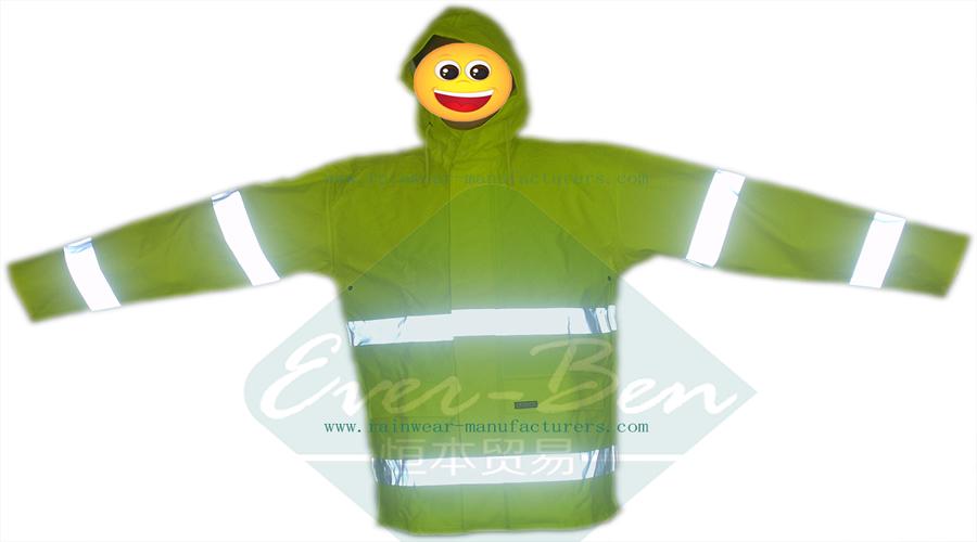 China PU reflective rain suits for worker