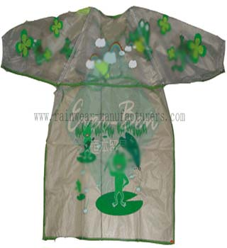 Clear PVC child size apron-Transparent childrens painting apron-wholesale aprons