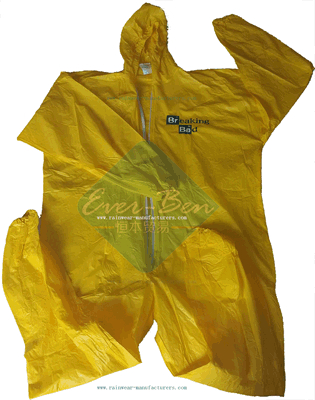 PVC yellow waterproof overalls-pvc overall-full rain suit