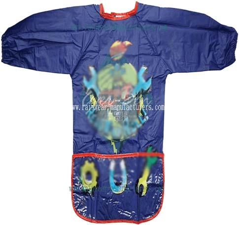 Printing PVC child size apron-childrens pvc aprons-pvc apron with pocket-pvc coat apron