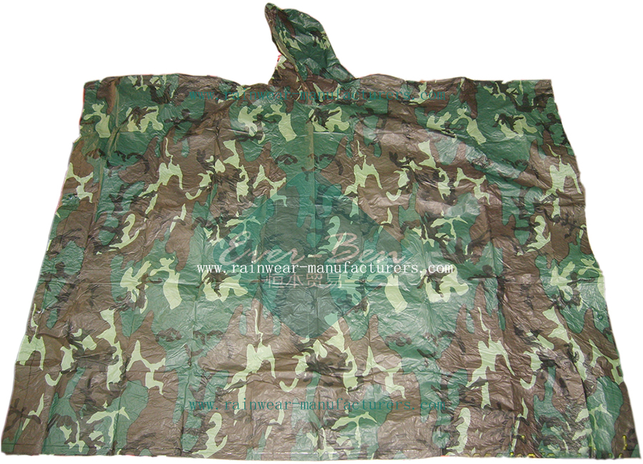 001 3colors Camouflage Military Poncho-Camouflage Rain Ponchos