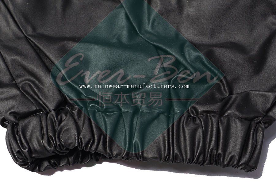 Black shiny raincoat sleeves