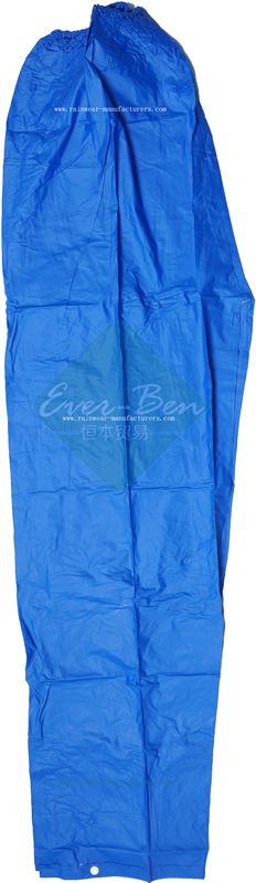 Blue PVC waterproof rain pants