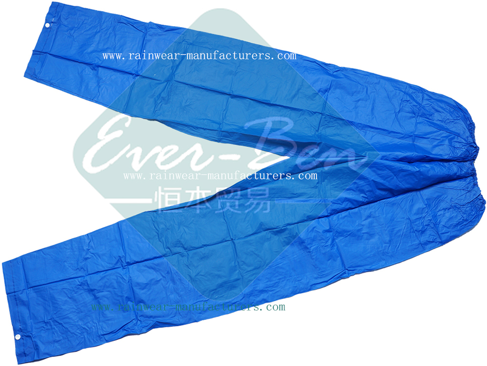 China Blue PVC Pants Supplier