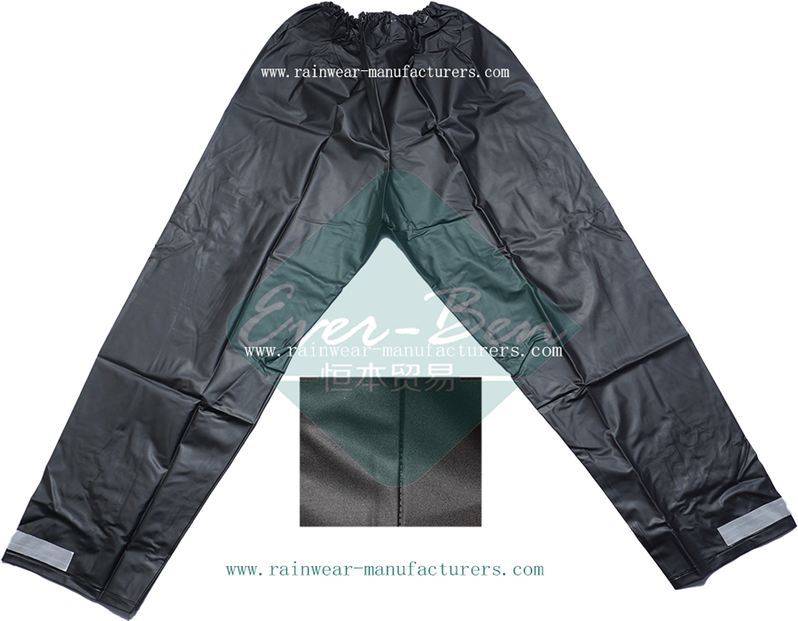China black PVC waterproof rain pants supplier