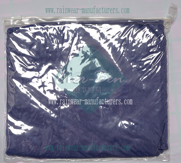 China blue Long rain poncho bag