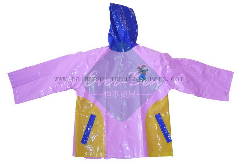 Girls pvc rain mac-womens vinyl raincoat