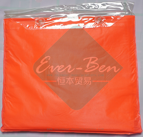 Orange red womens rain poncho packable pouch