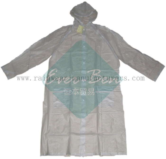PVC clear raincoat-transparent rain mac supplier