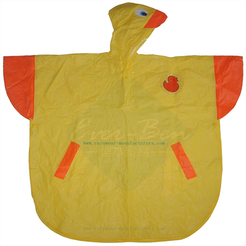 PVC duck cute rain poncho supplier