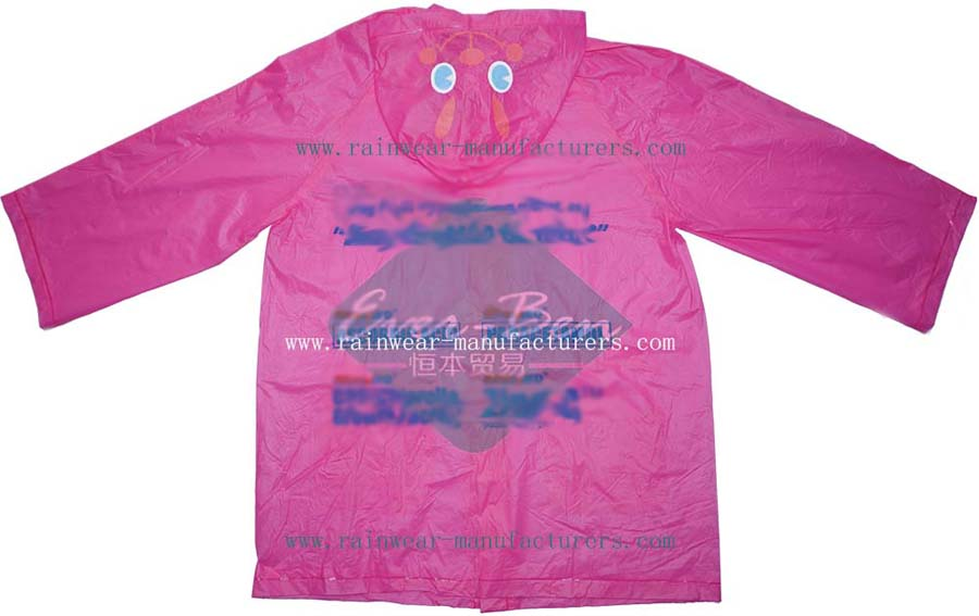 Pink toddler rain jacket supplier-womens rain mac