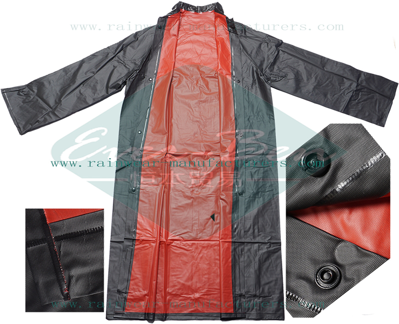 Reversible PVC heavy duty rain gear
