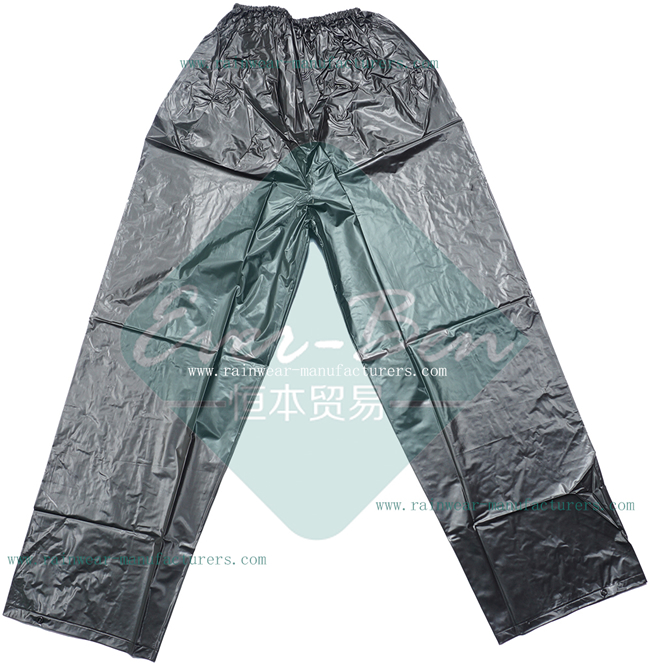 Strong reusable PVC mens rain pants