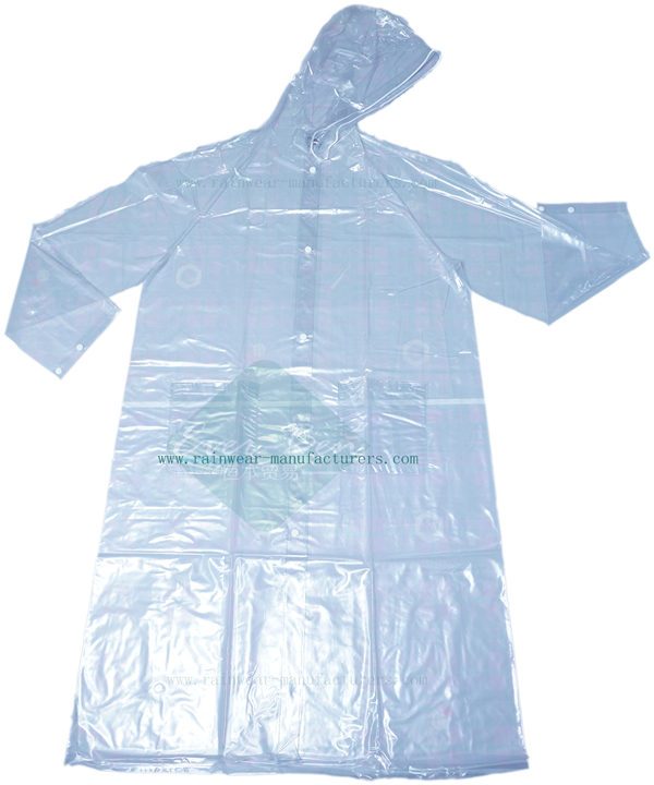 7a4834c83f Transparent PVC Clear Plastic Mac-Clear PVC Raincoat-Womens Vinyl Raincoat