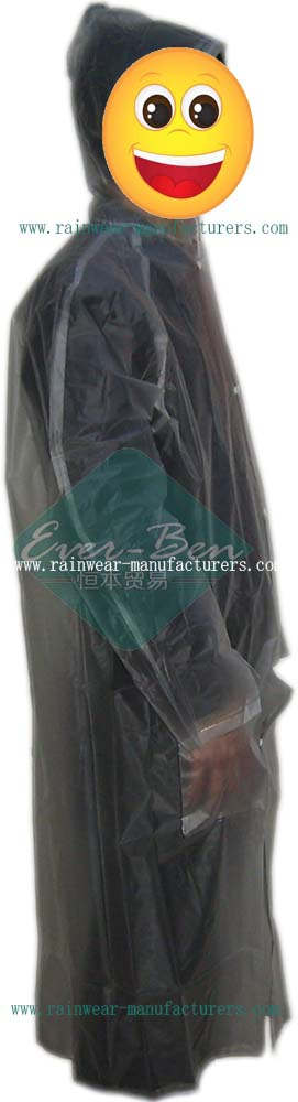 Transparent PVC plastic macs adults