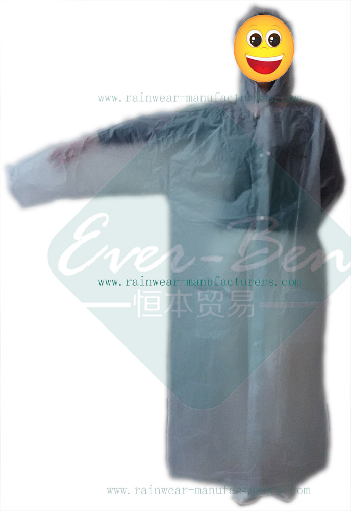 Transparent PVC poncho rain jacket