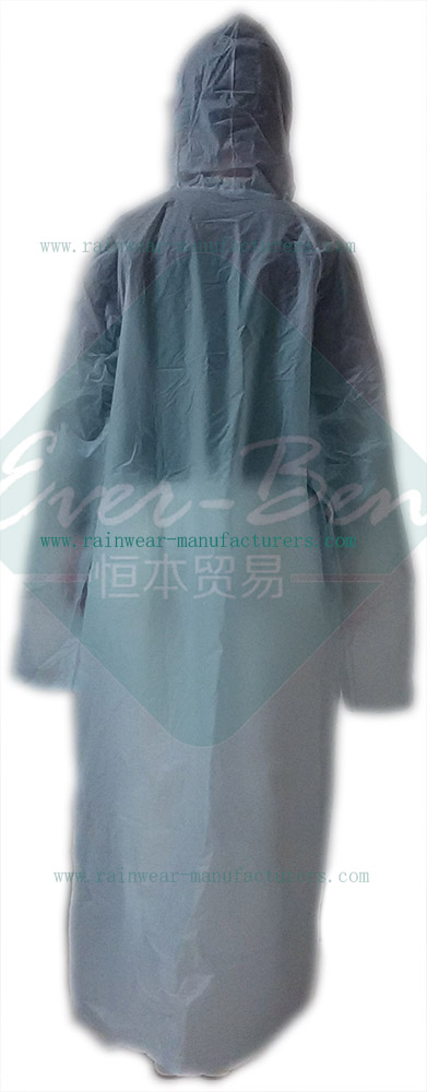 Transparent pvc raincoat with hood-full rain suit