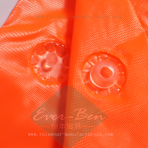 Vinyl orange raincape button