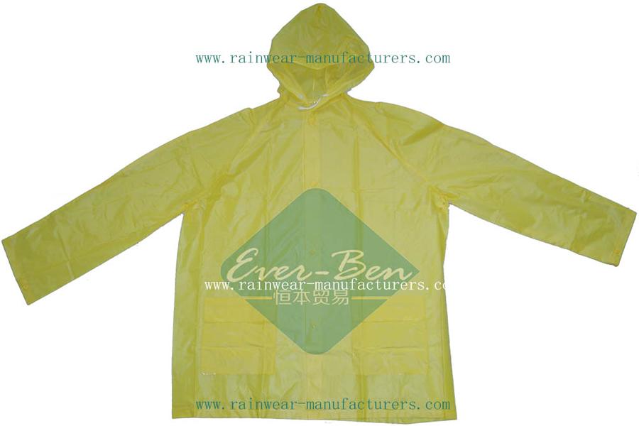 57959a7e Yellow Raincoat 010-Yellow PVC Rain Mac|Yellow Rain Slicker|Hooded ...