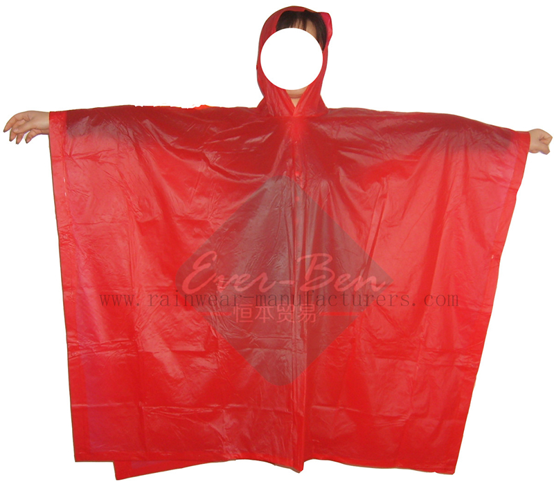 018 Children Red Poncho