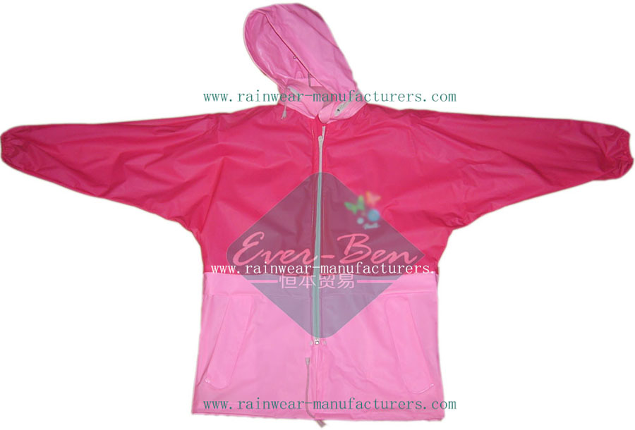 children's plastic rain jacket-plastic hooded rain mac-ladies plastic raincoats
