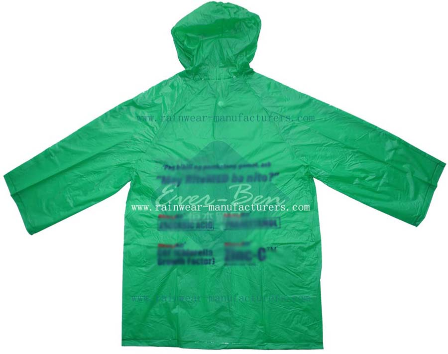 plastic hooded rain mac-womens rain mac-vinyl raincoat with hood-lightweight raincoat