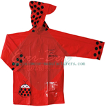 red raincoat-toddler rain jacket supplier