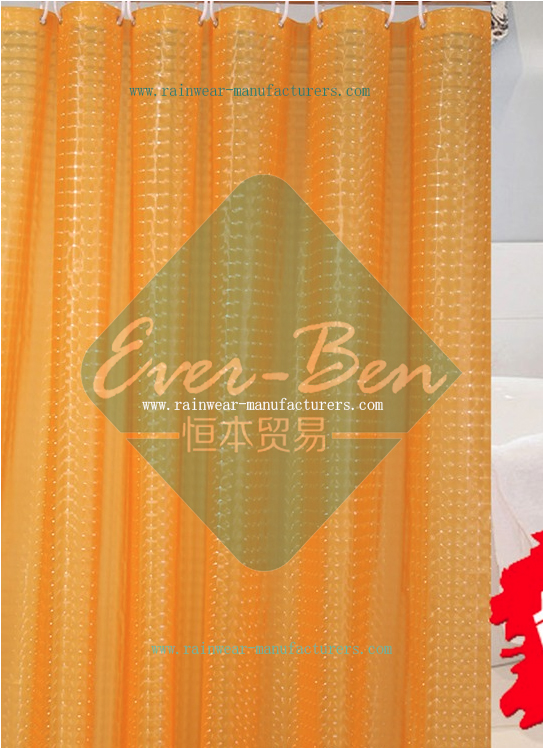 034 Orange EVA Shower Curtain Supplier