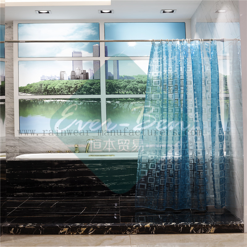 003 Bathroom shower curtains supplier