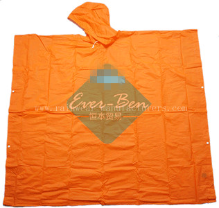 NFDB Orange PEVA waterproof poncho supplier