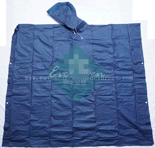 NFDC Reusable blue water poncho raincapes manufacturer
