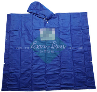 NFNG Blue plastic poncho wholesaler