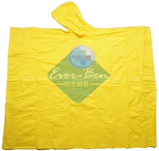 Yellow PEVA kids poncho raincape supplier
