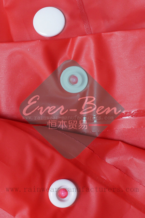 NFTB EVA oversized red rain poncho buttons