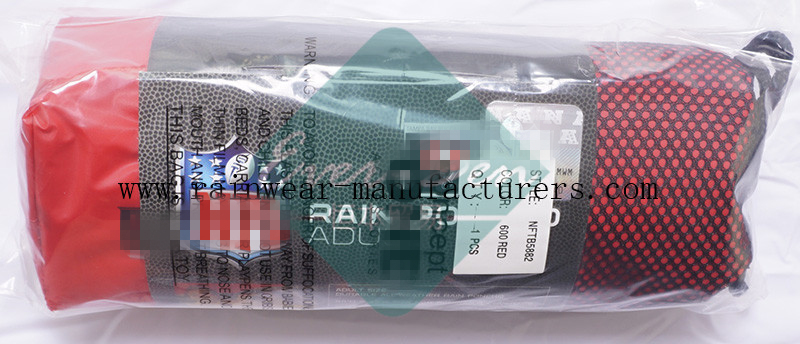 NFTB EVA oversized red rain poncho packing bag