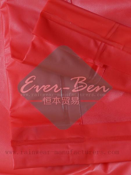 NFTB EVA oversized red rain poncho welding edge