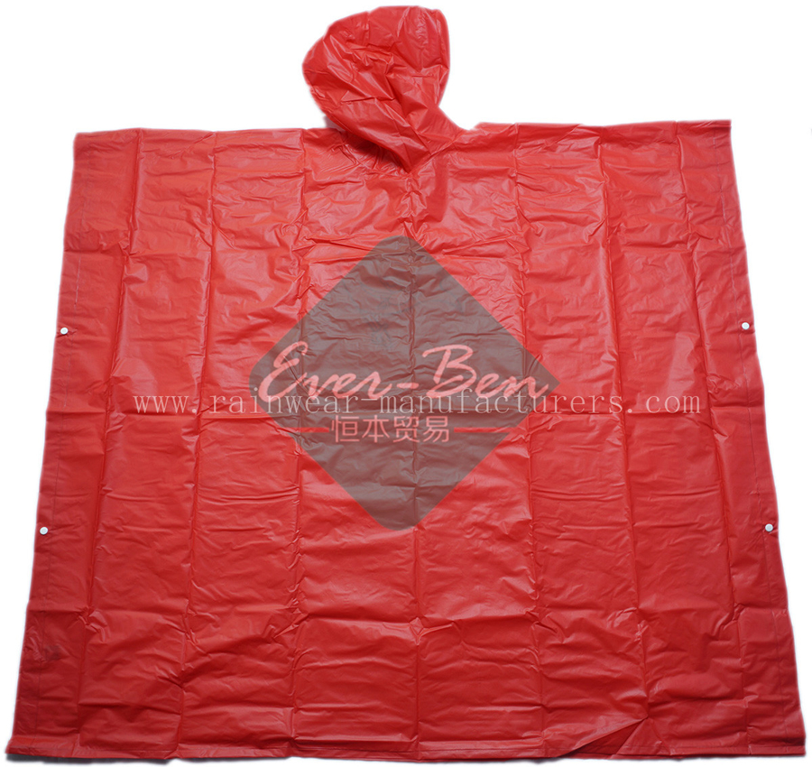 Wholesale EVA oversized red rain poncho for outdoor events
