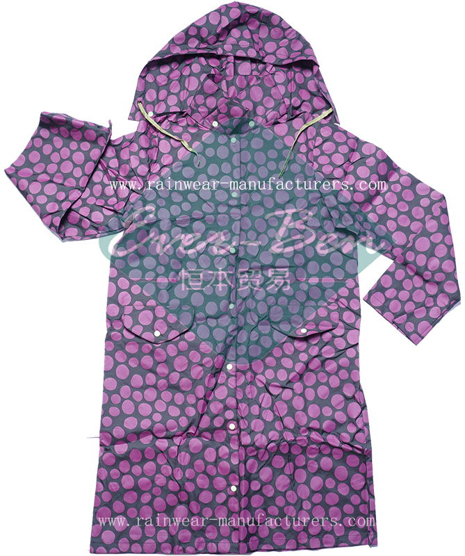 All over printing lightweight rain gear for women-womens waterproof jacket